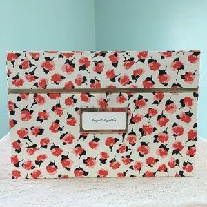 New Kate Spade Medium Floral Nesting Storage Box